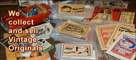 photo of our vintage tijuana bible collection
